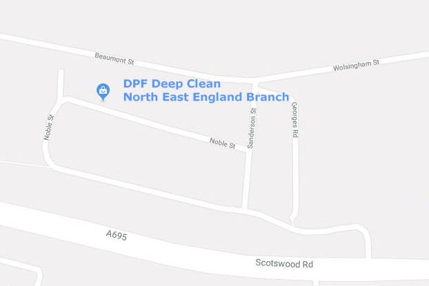 DPF Deep Clean Newcastle branch map